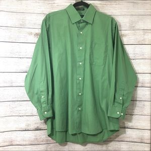 Bill Bass Essentials Green Button Down Shirt